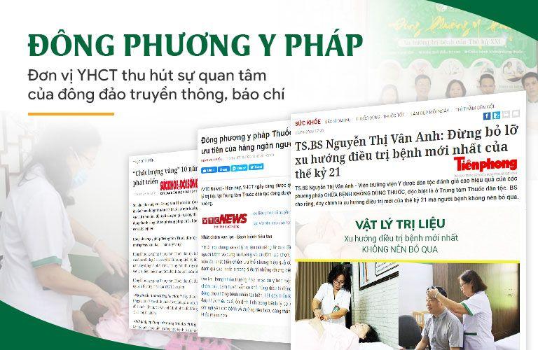 Một số trang báo đưa tin về Đông phương Y pháp
