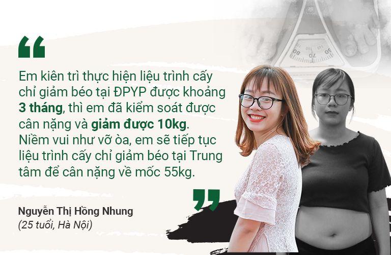 Chị Hồng Nhung (25 tuổi, Hà Nội)