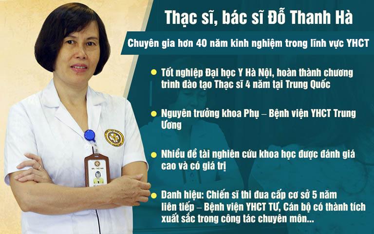 Bác sĩ Đỗ Thanh Hà với nhiều năm kinh nghiệm và những cống hiến cho nền Y học nước nhà