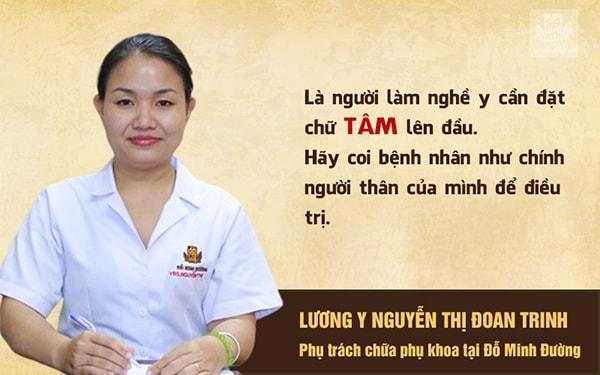 Lương y Đoan Trinh - Phụ trách khám, chữa bệnh phụ khoa tại Đỗ Minh Đường
