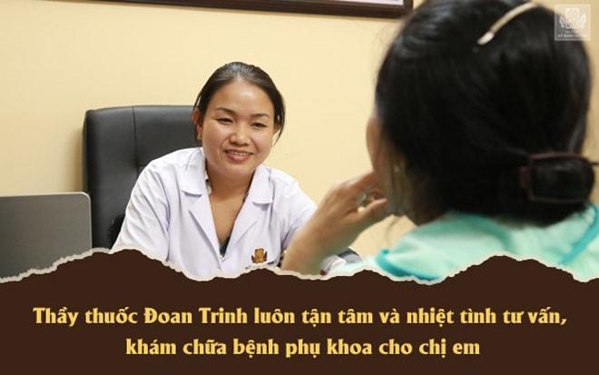 Lương y Đoan Trinh tận tình thăm khám đưa phác đồ điều trị cho bệnh nhân