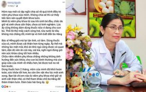 Lời cảm ơn từ một bệnh nhân được Thầy thuốc Thu Hằng điều trị khỏi bệnh viêm phụ khoa