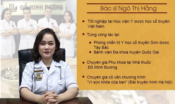 Bác sĩ Ngô Thị Hằng - người trực tiếp thăm khám và điều trị cho chị Hoa