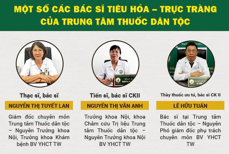 Các bác sĩ đầu ngành của Trung tâm Thuốc dân tộc