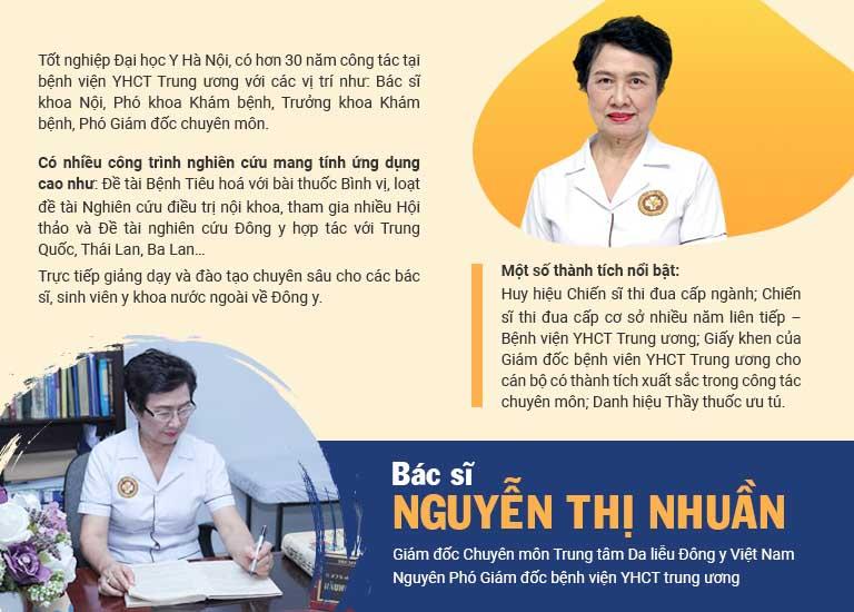 Một số thông tin về bác sĩ Nguyễn Thị Nhuần