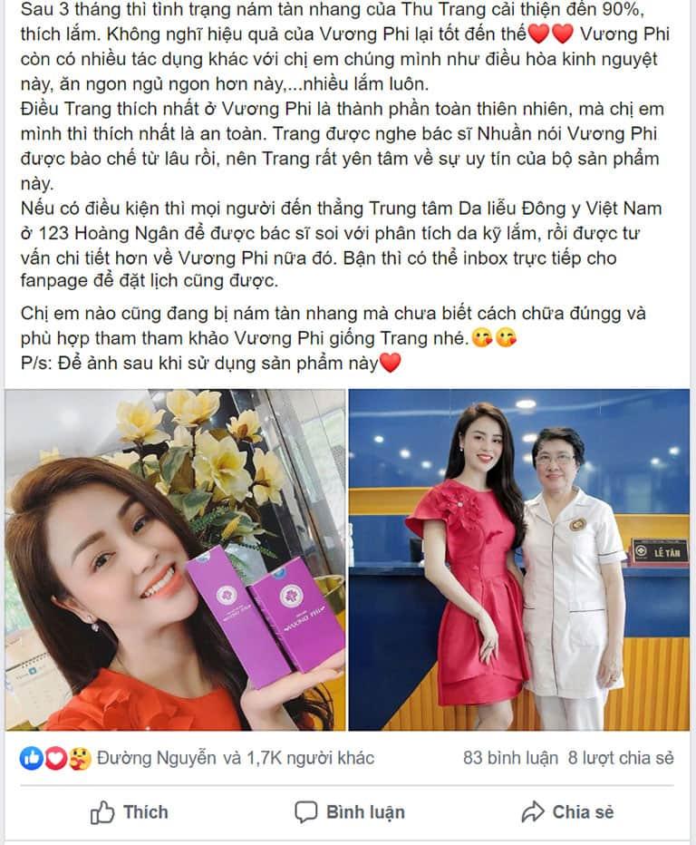 Cơ duyên biết đến Bộ sản phẩm Vương Phi là nhờ diễn viên Thu Trang