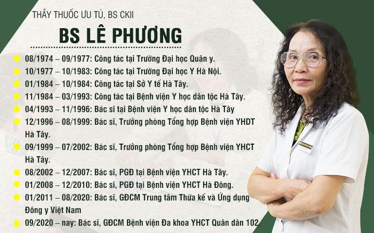 Bác sĩ Lê Phương có hơn 40 năm kinh nghiệm trong khám, điều trị bệnh