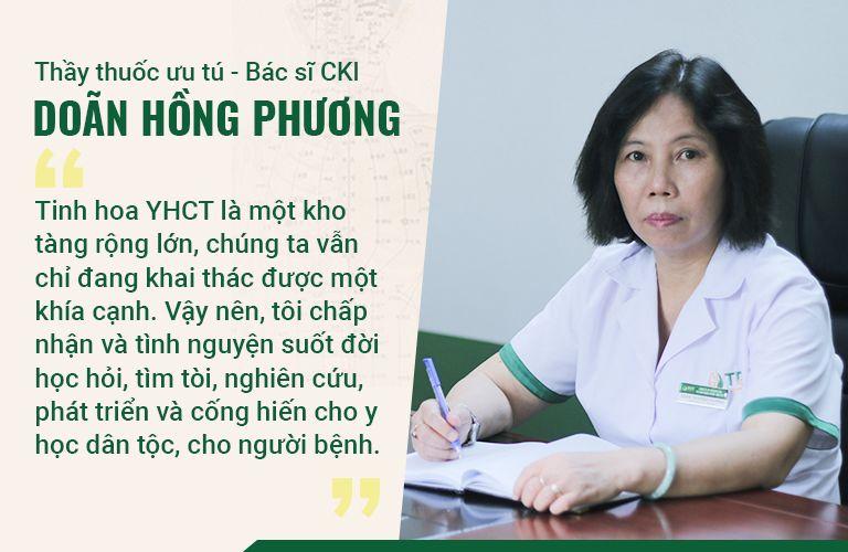 Bác sĩ Phương với hơn 30 năm kinh nghiệm